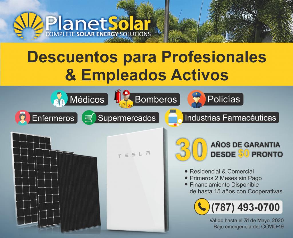 PlanetSolar - Descuentos para profesionales